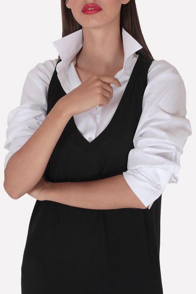 Вязаный мериносовый сарафан JND_19-010623-black, фото 1 - в интеренет магазине KAPSULA