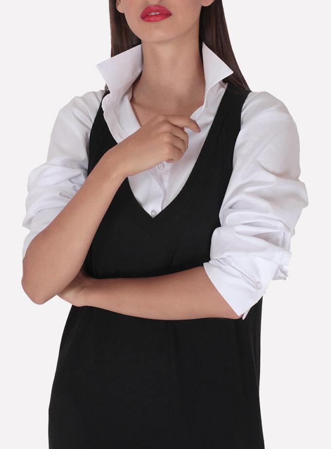 Вязаный мериносовый сарафан JND_19-010623-black, фото 1 - в интернет магазине KAPSULA