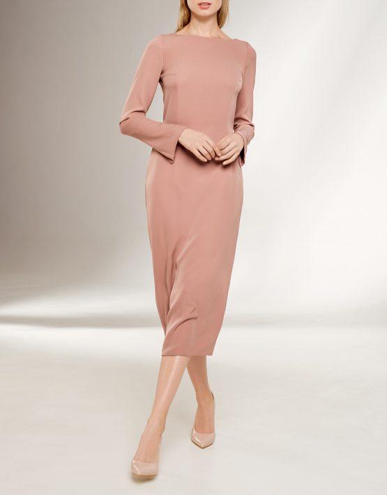 Платье с открытой спиной KS_F-W-21-19, фото 4 - в интеренет магазине KAPSULA