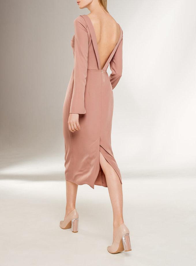 Платье с открытой спиной KS_F-W-21-19, фото 1 - в интернет магазине KAPSULA