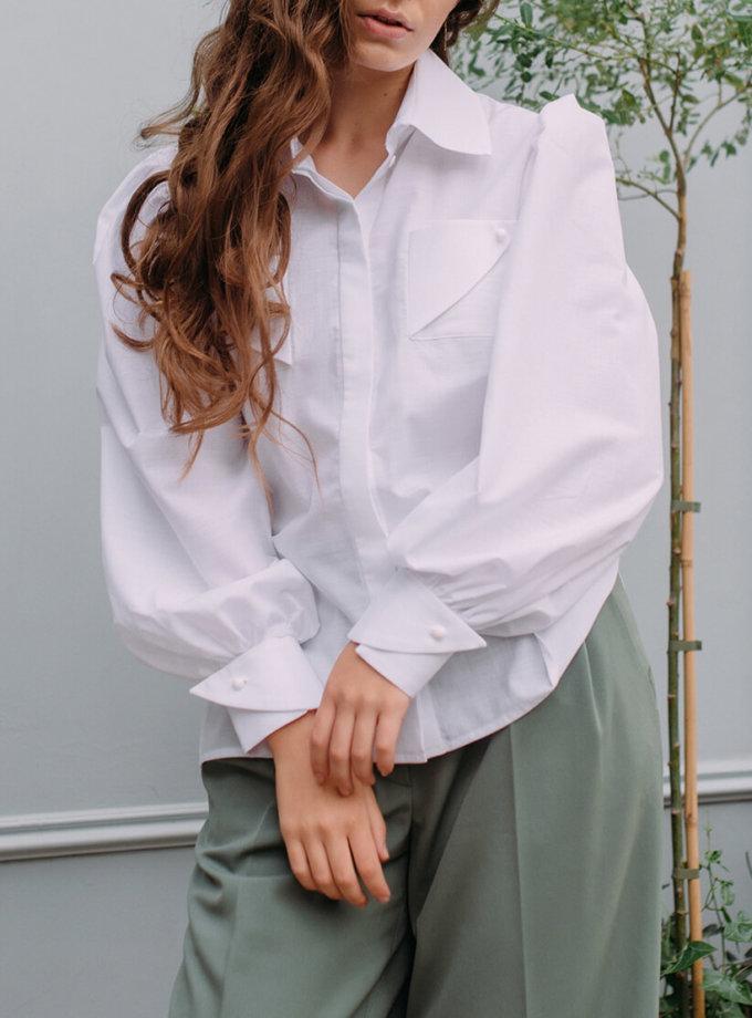 Рубашка с объемными рукавами MNTK_MTBLF1931, фото 1 - в интернет магазине KAPSULA