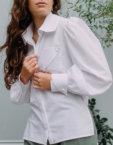 Хлопковая рубашка на кнопках BTW-Fall19-1, фото 2 - в интеренет магазине KAPSULA