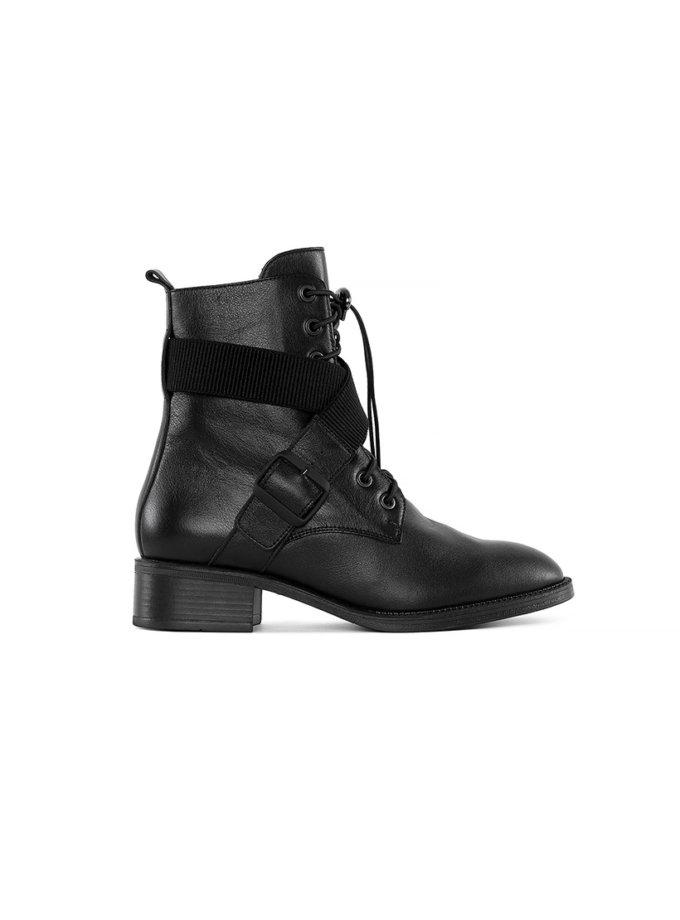 Кожаные ботинки Burner Black MRSL_730101, фото 1 - в интеренет магазине KAPSULA