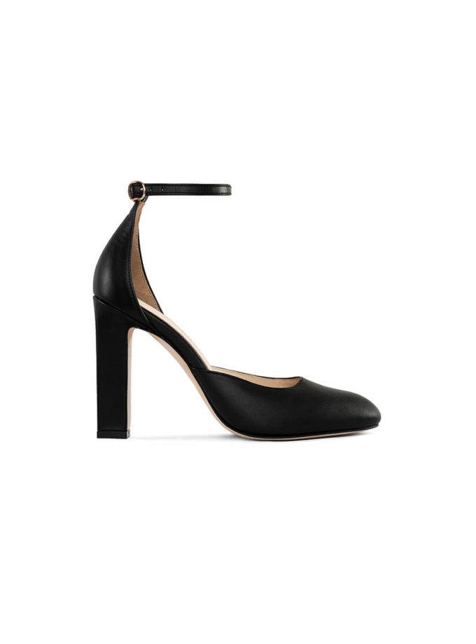 Кожаные туфли Mary Jane Black MRSL_993483, фото 1 - в интеренет магазине KAPSULA