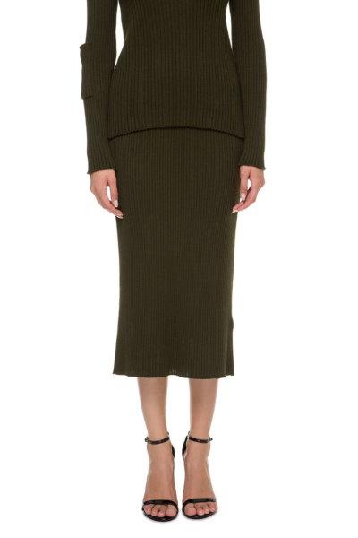 Вязаная юбка миди NTKA_NSpid004_OL, фото 1 - в интеренет магазине KAPSULA