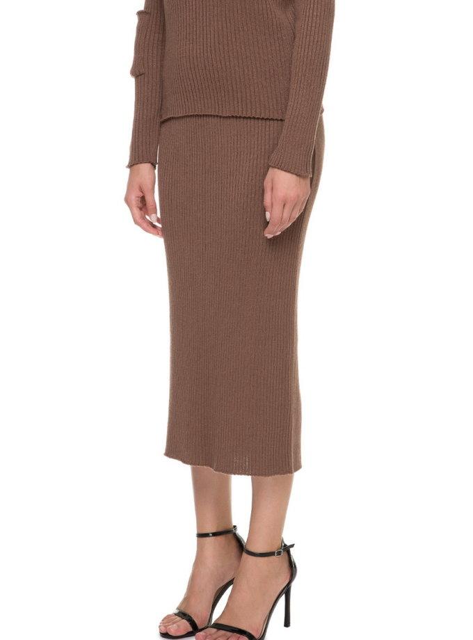 Вязаная юбка миди NTKA_NSpid004_WH, фото 1 - в интеренет магазине KAPSULA