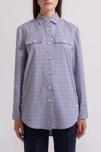 Хлопковая рубашка с поясом PPM_PM-55_1, фото 1 - в интеренет магазине KAPSULA
