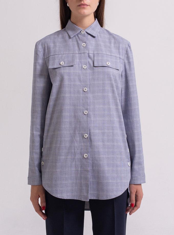 Хлопковая рубашка с поясом PPM_PM-55_1, фото 1 - в интернет магазине KAPSULA