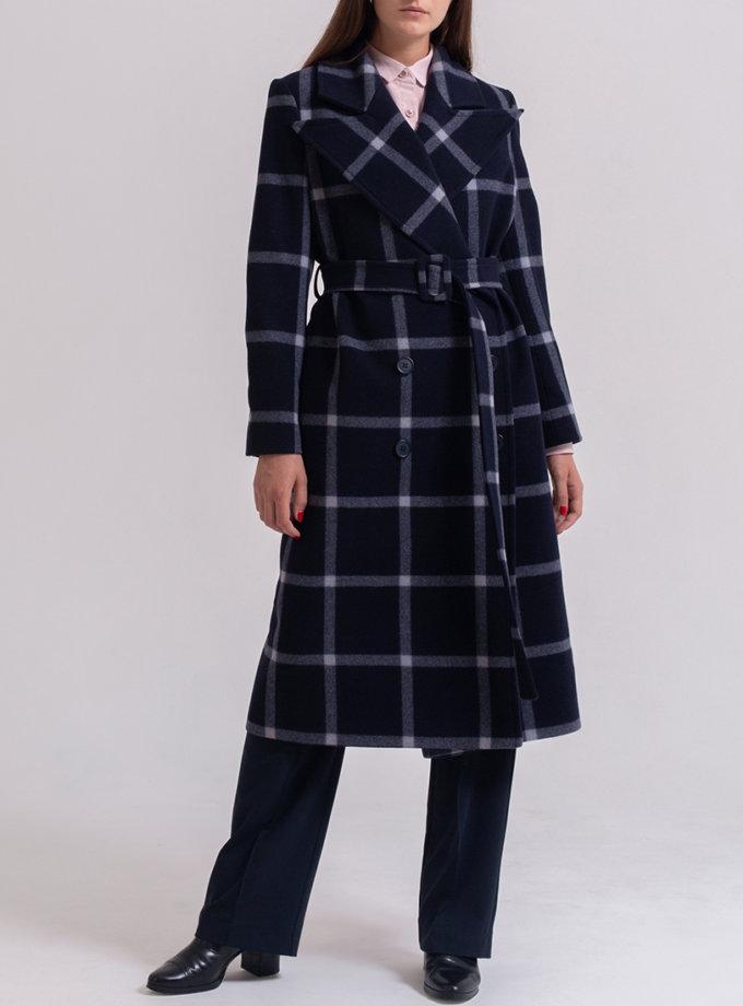 Двубортное пальто из шерсти PPM_PM-56_cage, фото 1 - в интернет магазине KAPSULA