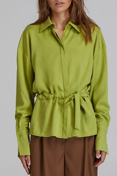 Рубашка на кулиске из хлопка SAYYA_FW917-1, фото 1 - в интеренет магазине KAPSULA