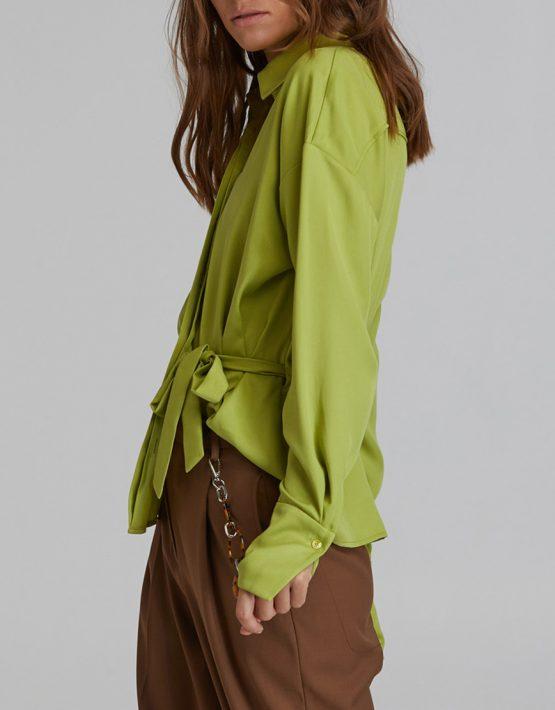 Рубашка на кулиске из хлопка SAYYA_FW917-1, фото 7 - в интеренет магазине KAPSULA