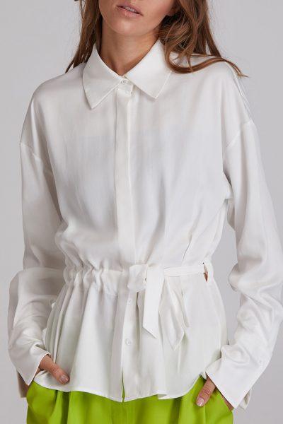 Рубашка на кулиске из хлопка SAYYA_FW917, фото 1 - в интеренет магазине KAPSULA