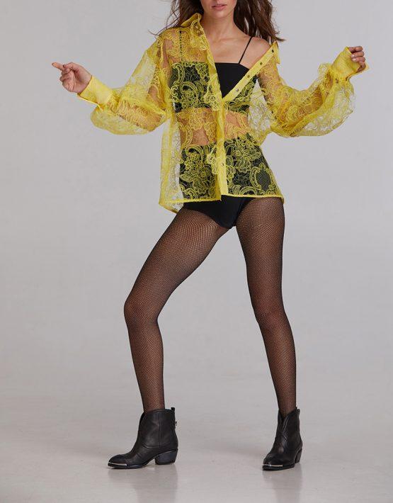 Блуза кружевная из хлопка SAYYA_FW923, фото 8 - в интеренет магазине KAPSULA
