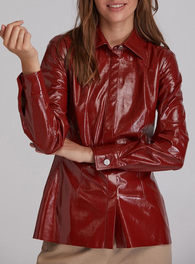 Рубашка из эко-кожи SAYYA_FW931-1, фото 1 - в интеренет магазине KAPSULA