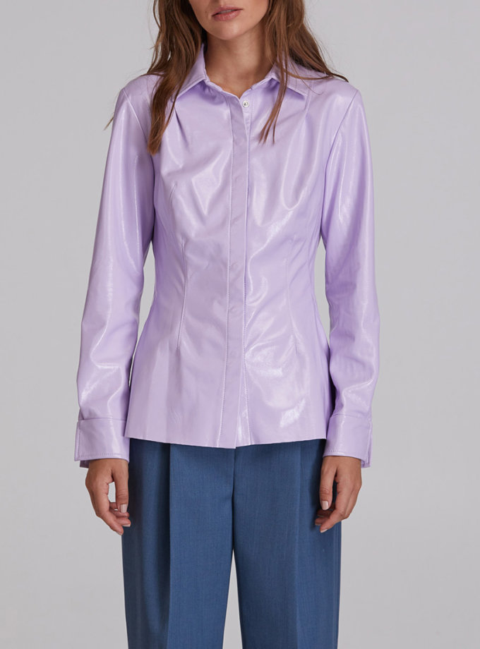 Рубашка из эко-кожи SAYYA_FW931, фото 1 - в интернет магазине KAPSULA