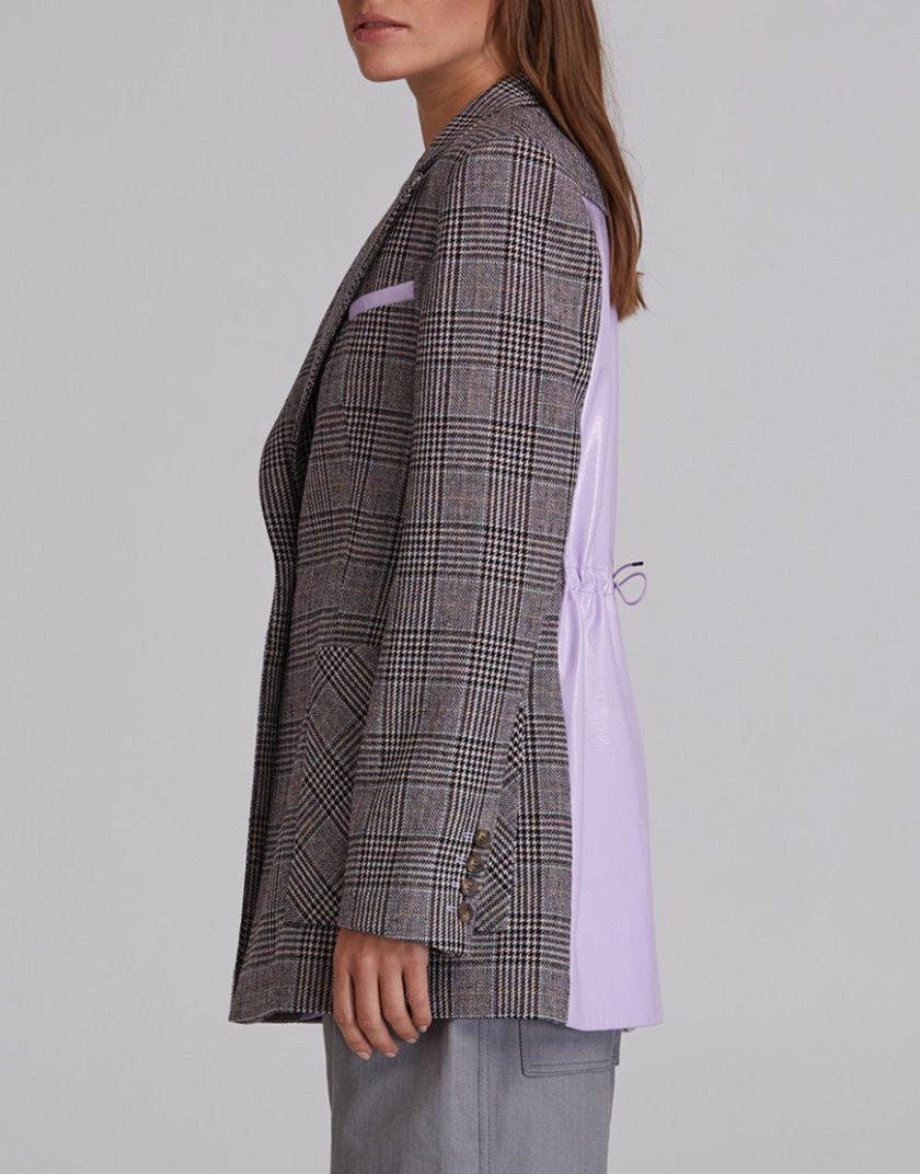 Жакет в клетку с лаковой спинкой SAYYA_FW934, фото 1 - в интеренет магазине KAPSULA