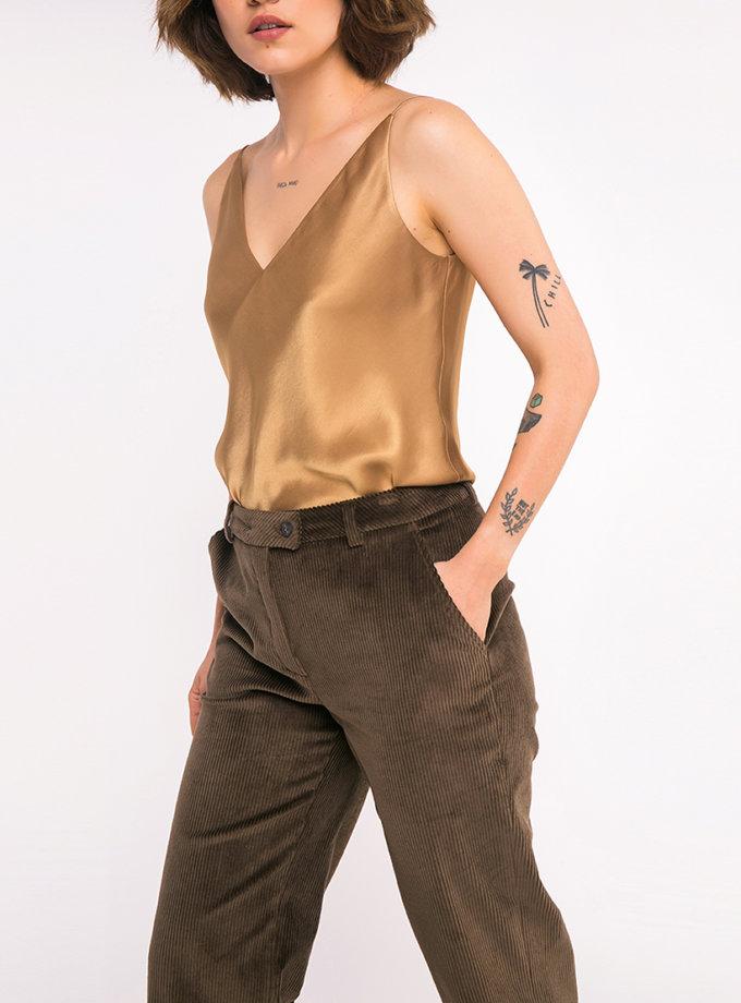 Прямые брюки из хлопка SHKO_16021018, фото 1 - в интернет магазине KAPSULA