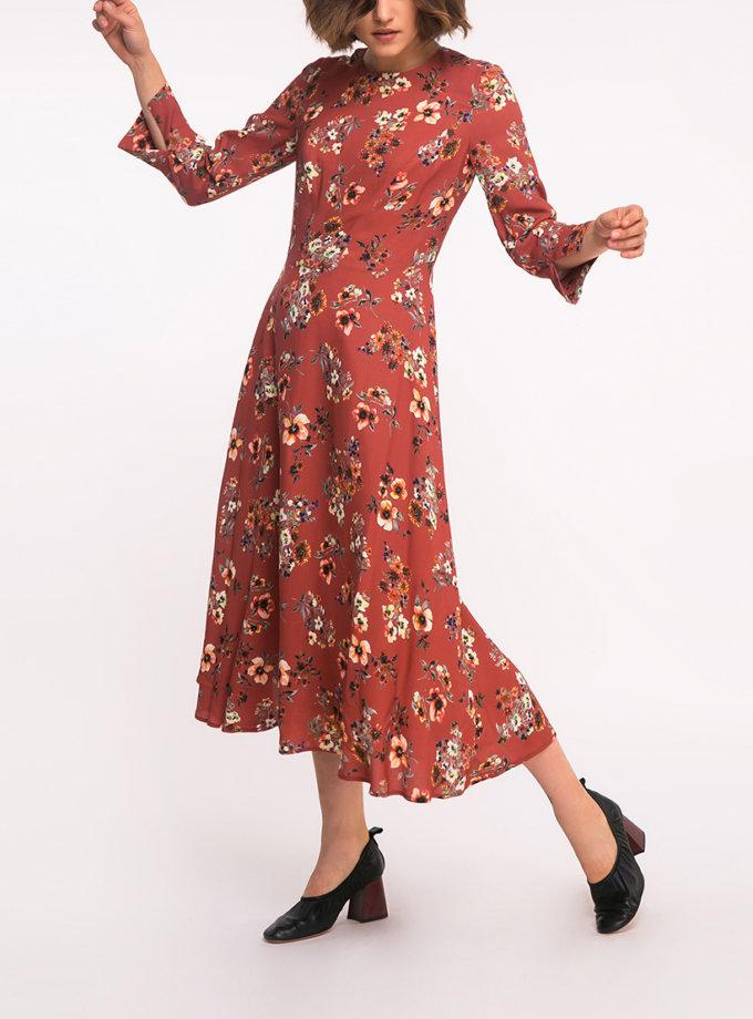 Платье А-силуэта в принт SHKO_17041007, фото 1 - в интернет магазине KAPSULA
