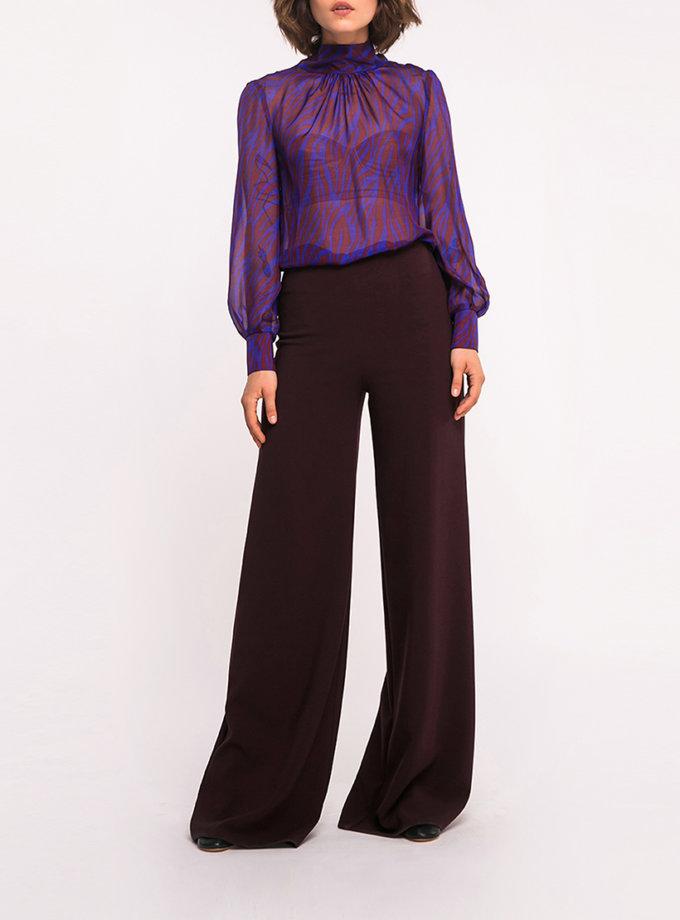Шелковая блуза с бантом на спине SHKO_18051003, фото 1 - в интернет магазине KAPSULA