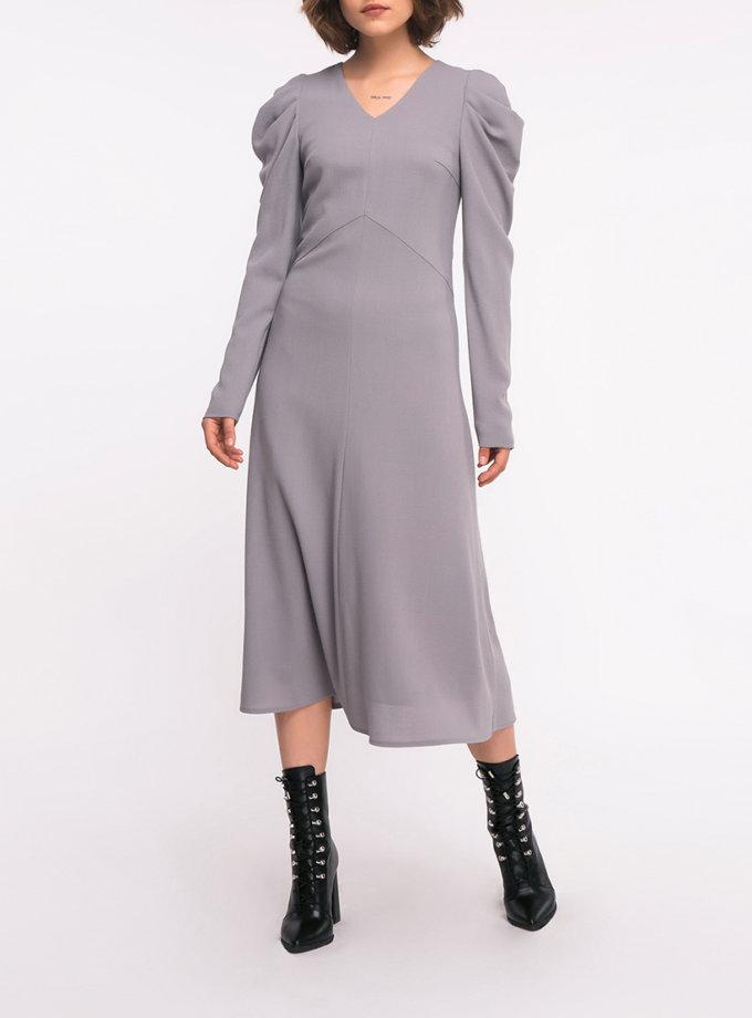 Шерстяное платье рукавами-буфами SHKO_19005002, фото 1 - в интернет магазине KAPSULA
