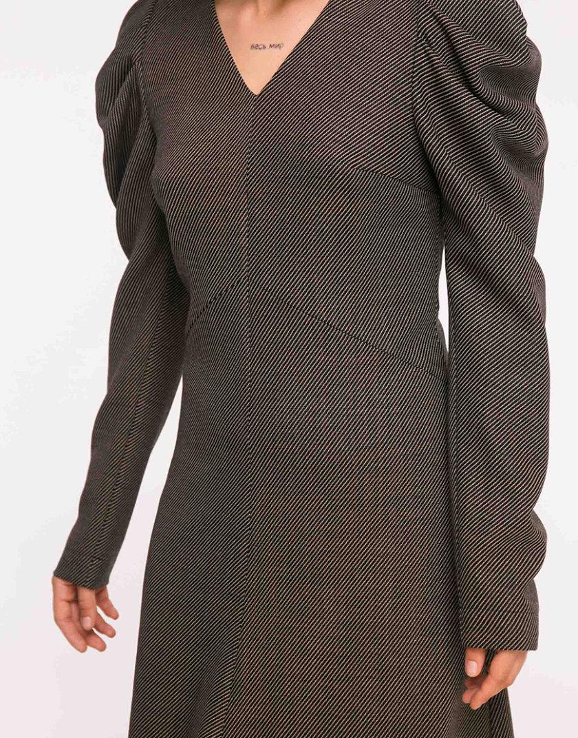 Шерстяное платье с рукавами-буфами SHKO_19005003, фото 1 - в интеренет магазине KAPSULA