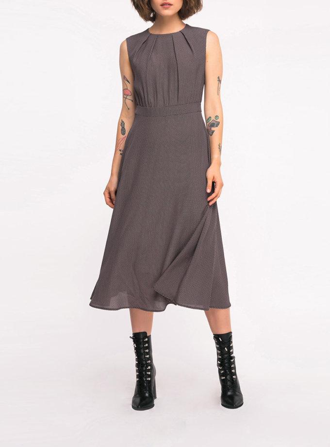 Платье миди в принт SHKO_19007009, фото 1 - в интернет магазине KAPSULA