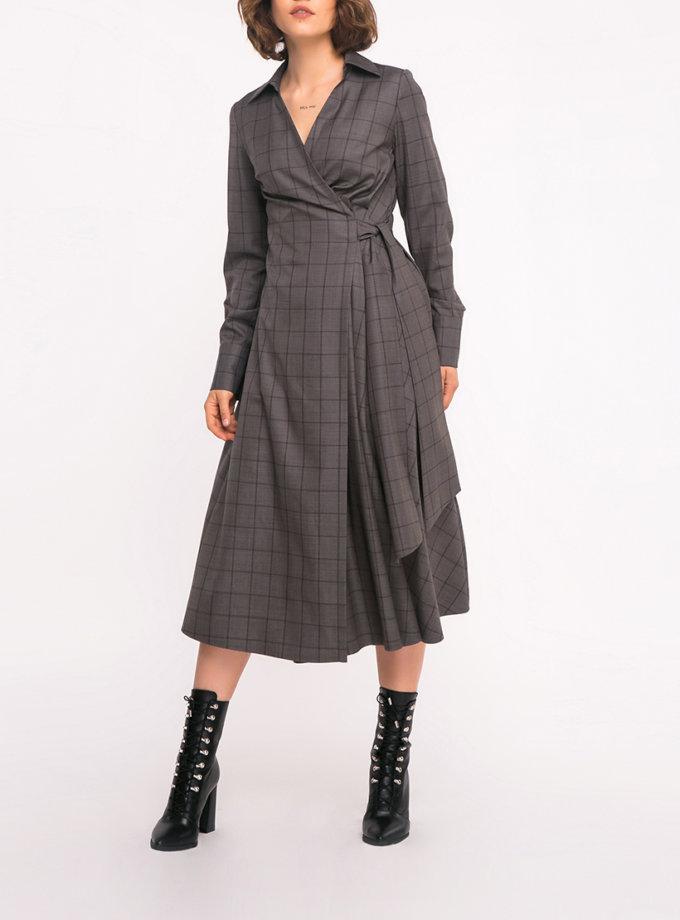 Платье-рубашка на запах SHKO_19035002, фото 1 - в интернет магазине KAPSULA