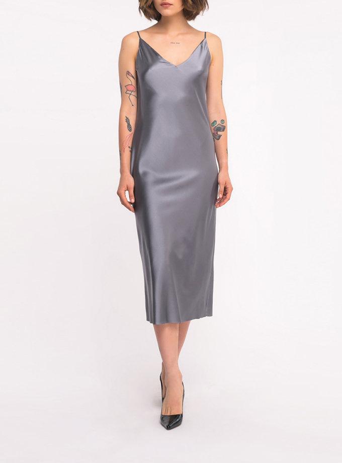 Шелковое платье на тонких бретелях SHKO_19038001, фото 1 - в интернет магазине KAPSULA