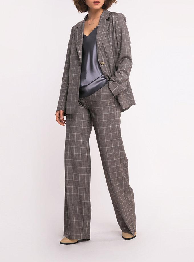 Прямые брюки в клетку SHKO_19039001, фото 1 - в интернет магазине KAPSULA