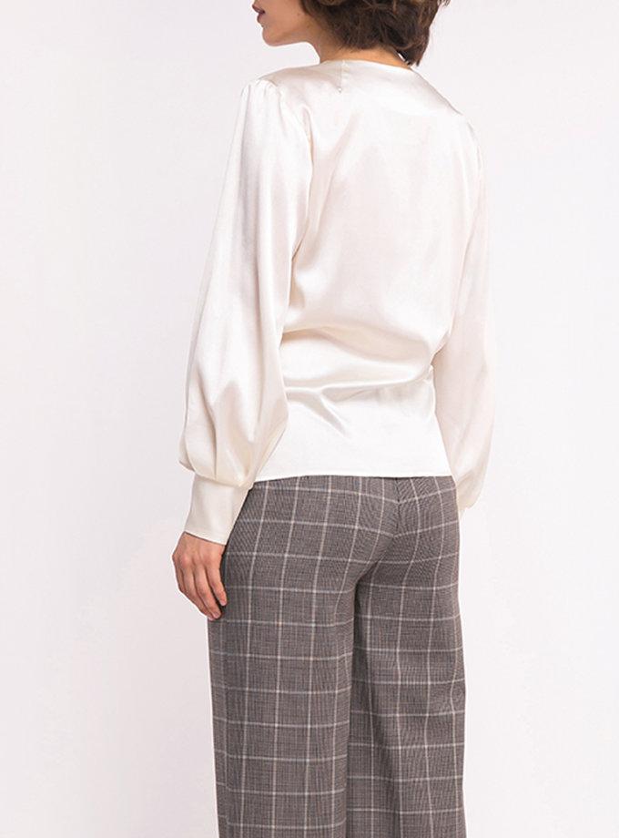 шелковая блуза на запах SHKO_19040001, фото 1 - в интеренет магазине KAPSULA