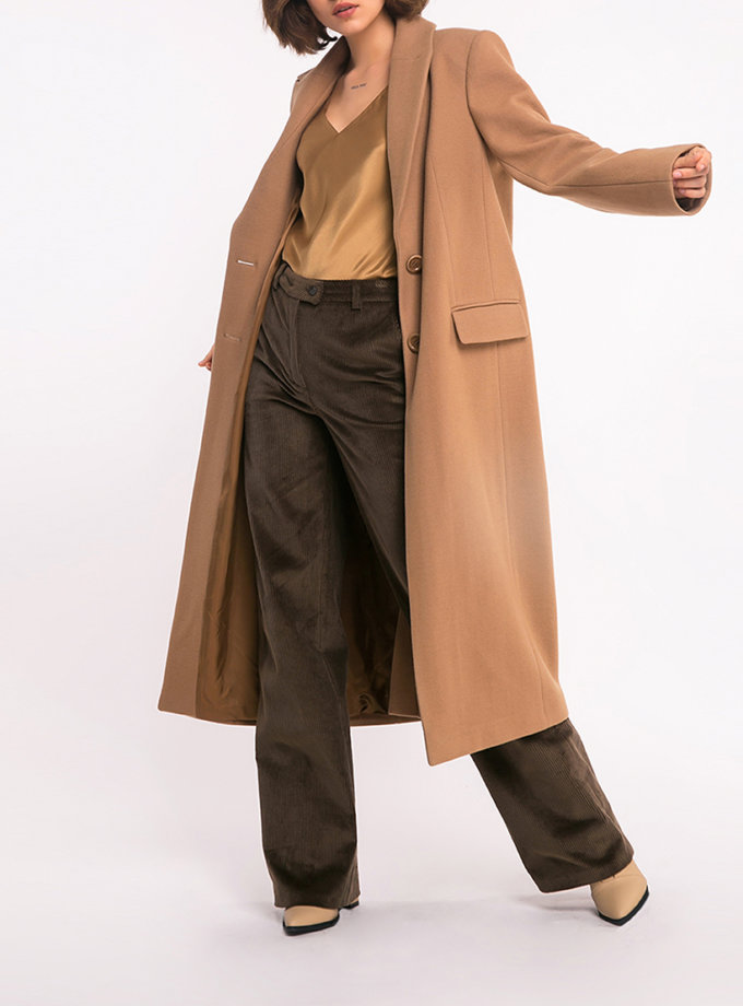Пальто прямое из шерсти SHKO_19041001, фото 1 - в интеренет магазине KAPSULA