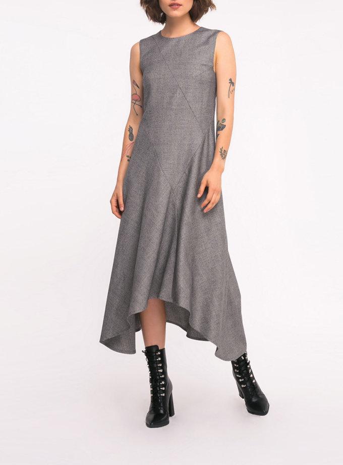 Шерстяное платье с асимметричным низом SHKO_19043001, фото 1 - в интеренет магазине KAPSULA