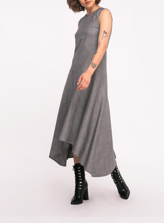 Шерстяное платье с асимметричным низом SHKO_19043001, фото 1 - в интернет магазине KAPSULA