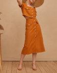 Укороченный топ и юбка миди VUNA_V_114, фото 3 - в интеренет магазине KAPSULA