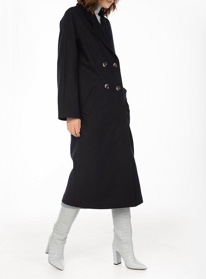 Двубортное пальто c рукавом реглан Black WNDR_fw1920_cblck02, фото 1 - в интеренет магазине KAPSULA