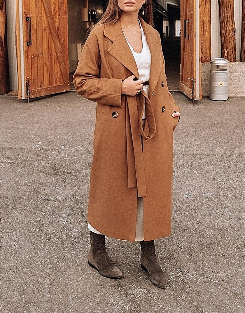 Двубортное пальто c рукавом реглан Camel WNDR_fw1920_ccam02, фото 1 - в интернет магазине KAPSULA