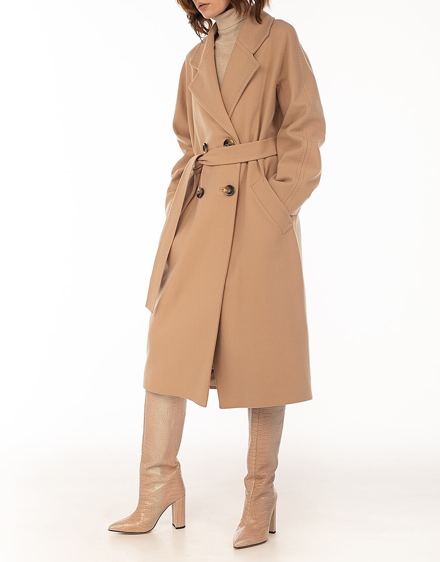 Двубортное пальто c рукавом реглан Sand WNDR_fw1920_cs02, фото 1 - в интернет магазине KAPSULA