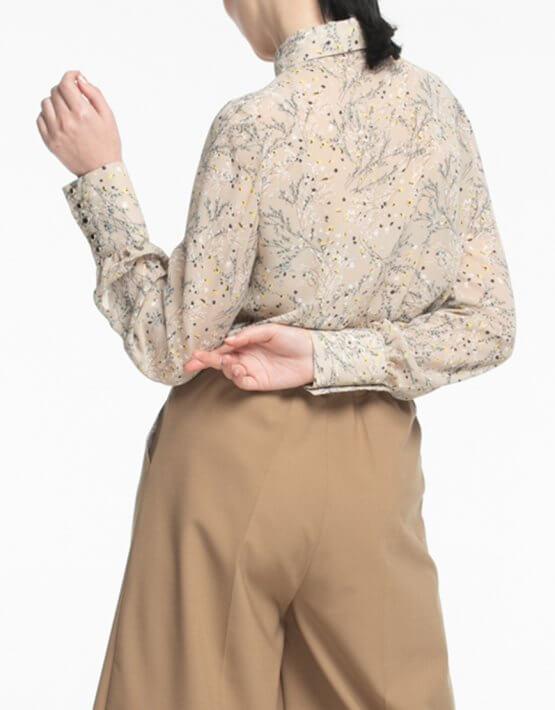 Шифоновая блуза с широким манжетом ALOT_020180, фото 5 - в интеренет магазине KAPSULA