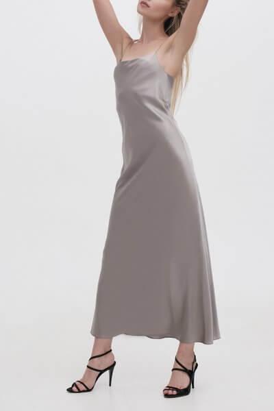 Платье на тонких бретельках MISS_DR-021-gray, фото 1 - в интеренет магазине KAPSULA