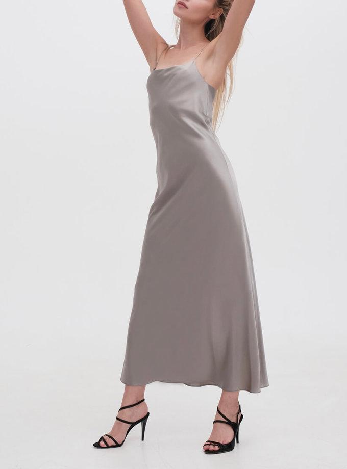 Платье на тонких бретельках MISS_DR-021-gray, фото 1 - в интернет магазине KAPSULA