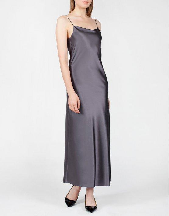 Платье с вырезом на спине MISS_DR-024-gray, фото 4 - в интеренет магазине KAPSULA