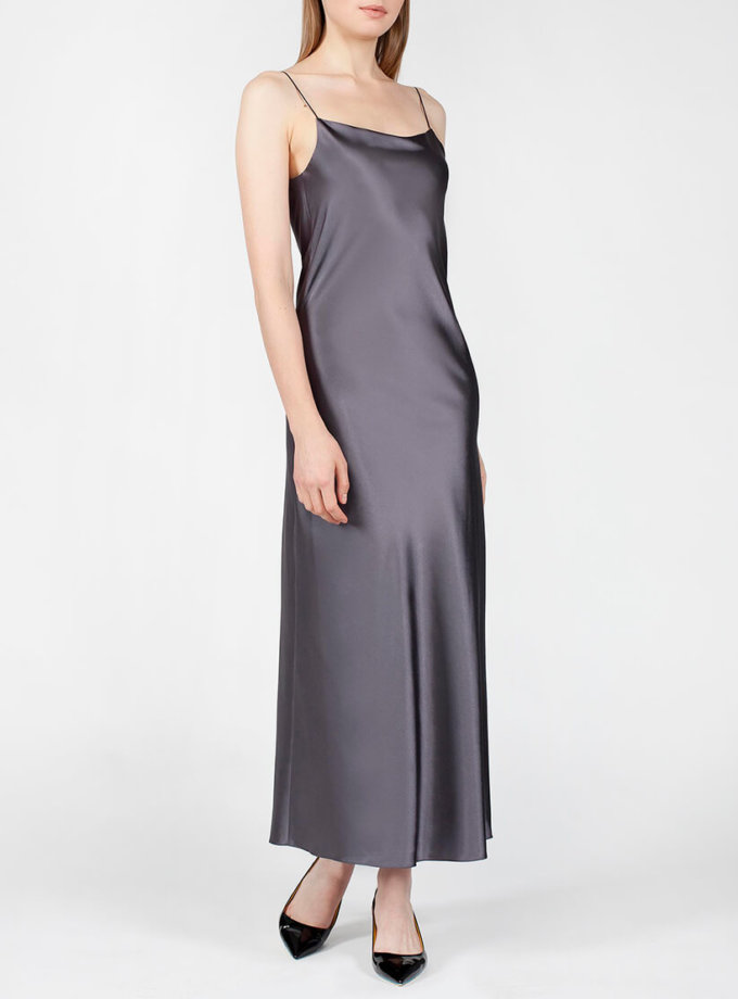 Платье с вырезом на спине MISS_DR-024-gray, фото 1 - в интернет магазине KAPSULA