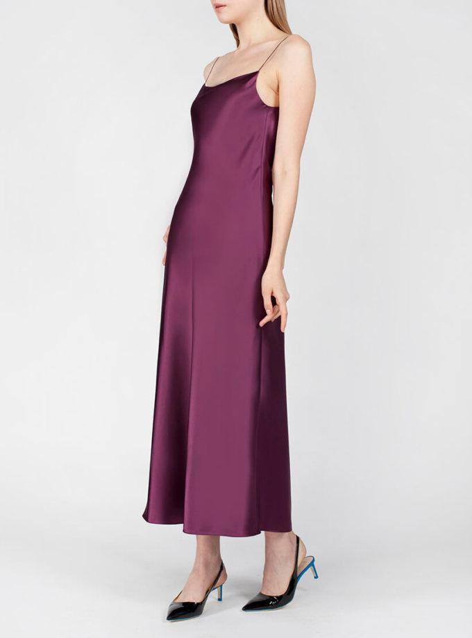 Платье с вырезом на спине MISS_DR-024-violet, фото 1 - в интернет магазине KAPSULA