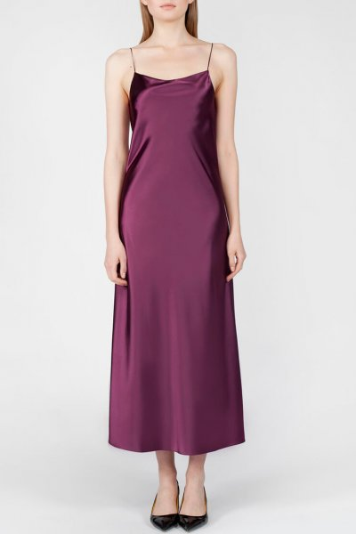 Платье с вырезом на спине MISS_DR-024-violet, фото 1 - в интеренет магазине KAPSULA