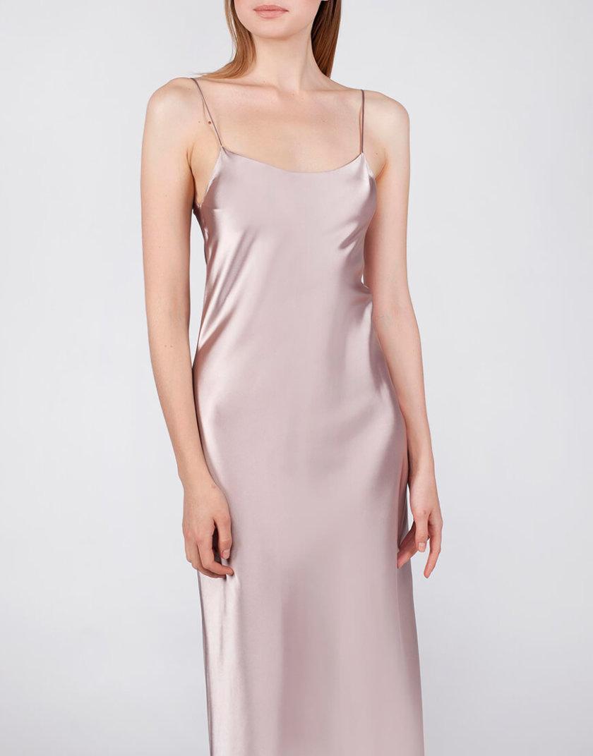 Платье на тонких бретельках MISS_DR-021-beige, фото 1 - в интернет магазине KAPSULA