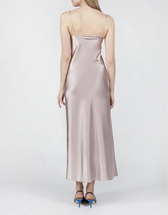 Платье на тонких бретельках MISS_DR-021-beige, фото 4 - в интеренет магазине KAPSULA