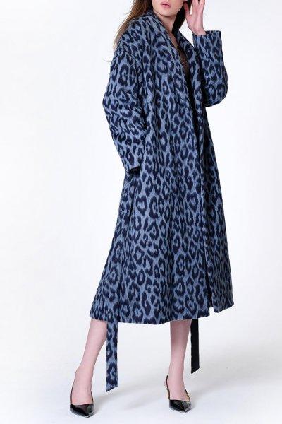 Пальто на запах из шерсти альпаки MISS_JA-011, фото 4 - в интеренет магазине KAPSULA