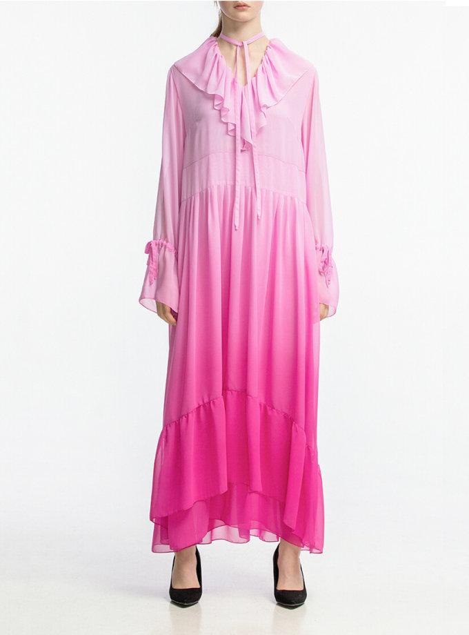 Шифоновое платье с воланами ALOT_100346, фото 1 - в интернет магазине KAPSULA