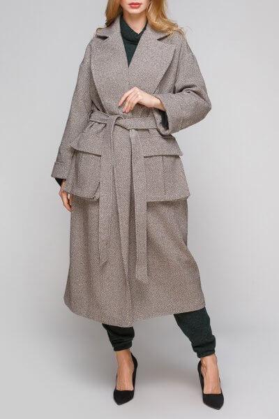 Двубортное пальто из шерсти AY_2849, фото 3 - в интеренет магазине KAPSULA