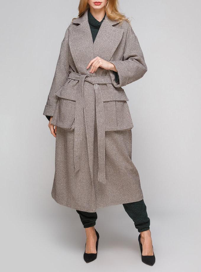 Двубортное пальто из шерсти AY_2849, фото 1 - в интернет магазине KAPSULA